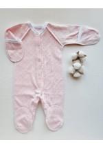Комбинезон для новорожденного Ажур розовый (3031)..