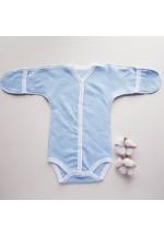 Боди-полукомбинезон для новорожденного голубой теплый (3042)