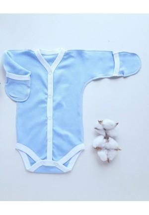 Боди-полукомбинезон для новорожденного голубой (3043)