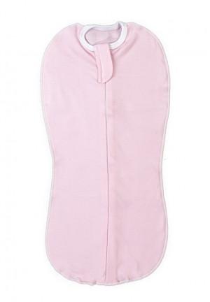 Пеленка-кокон на замке розовая (4009)