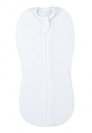 Пеленка-кокон на замке белая (4009)