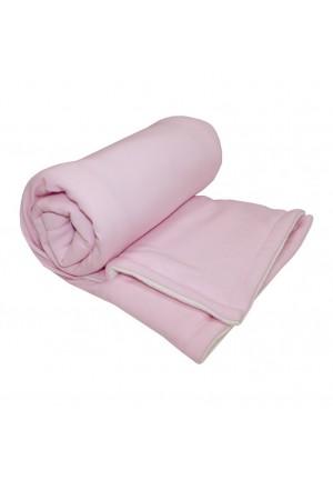Набор на выписку с бантом (одеяло, комбинезон, шапочка, утепленный комбинезон) розовый