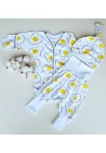 Набор одежды для малыша (боди, ползунки, шапочка) Весна Яичница (5023)..