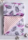 Одеяло-плед детский Розовый фламинго 90х90см