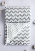 Одеяло-плед детский Серые зигзаги 90х90см..