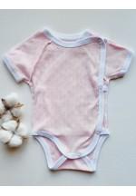 Боди-полукомбинезон для новорожденного Ажур розовый (6300)