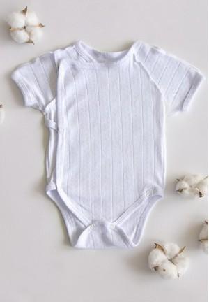 Боди-полукомбинезон для новорожденного Ажур белый (6300)