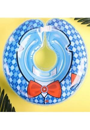 """Круг для купания на шею """"Джентльмен"""" от 1 мес, двухкамерный, с погремушками"""