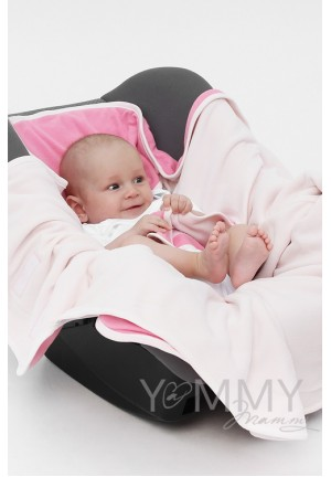 Конверт-кармашек из флиса розовый