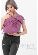Слинг с кольцами из шарфовой ткани Rose Agate (розовый/темно-серый) (5..