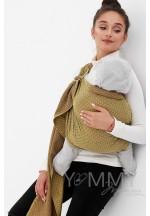 Слинг с кольцами из шарфовой ткани Golden Beryl (желтый/коричневый) (5..