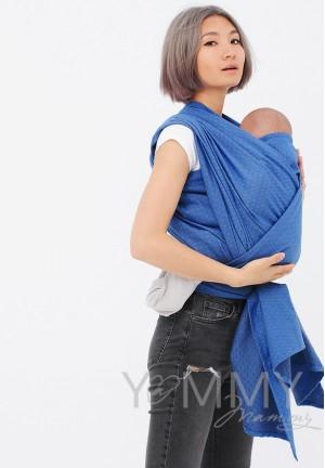 Слинг-шарф из шарфовой ткани Lazurite (васильковый/темно-серый) (551)
