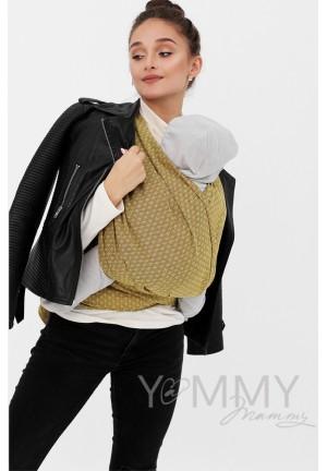 Слинг-шарф из шарфовой ткани Golden Beryl (лимонный/коричневый) (551)