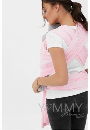 Слинг-шарф трикотажный розовый (551)
