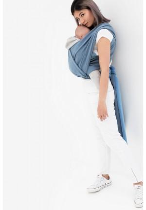 Слинг-шарф трикотажный двухсторонний  голубой/серый (551)