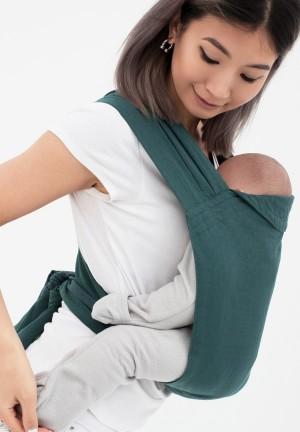 Май-слинг из шарфовой ткани изумруд/темно-серый (552)
