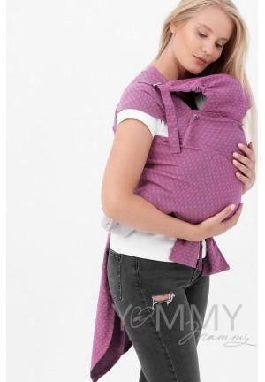Май-слинг из шарфовой ткани Rose Agate (розовый/темно-серый) (553)