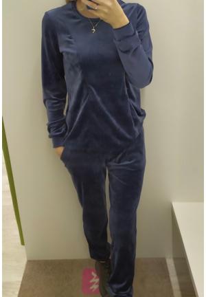 Костюм темно-синий велюровый для беременных и кормящих