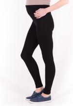 Леггинсы чёрные из плотной ткани для беременных (L-002)..