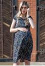 """Платье """"Джулия"""" полевые цветы на синем для беременных"""