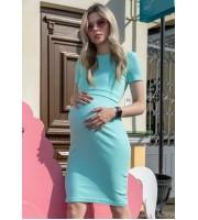 """Платье """"Классика"""" мята из кашкорсе для беременных и кормящих"""