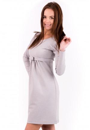 """Платье """"Моника"""" серый меланж для беременных"""
