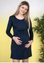 """Платье """"Моника"""" темно-синее для беременных"""