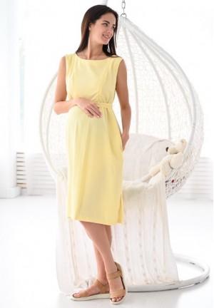 """Платье """"Счастье"""" желтое для беременных и кормящих"""