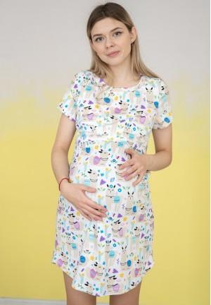 """Сорочка """"Нежность"""" ламы для беременных и кормящих"""