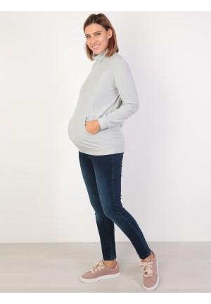 Джемпер флисовый св.серый для беременных и кормящих (ем 8602)