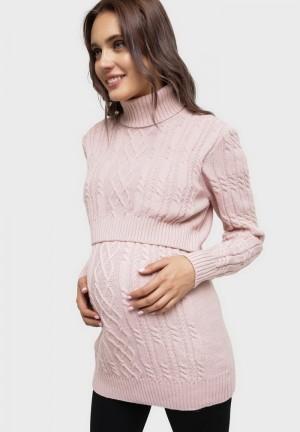 """Джемпер """"Миранда"""" пудровый для беременных и кормящих"""