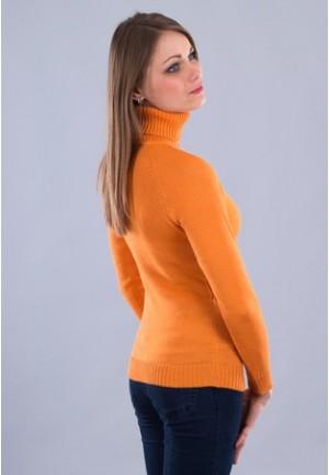 Джемпер абрикос для беременных и кормящих 50% ШЕРСТЬ (102 мод.)