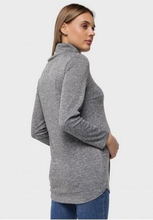 """Джемпер """"Ронни"""" серый для беременных"""