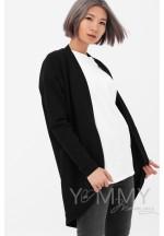 Жакет с карманами черный для беременных и кормящих (515)..