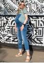 Комбинезон джинсовый синий для беременных синий (77007)