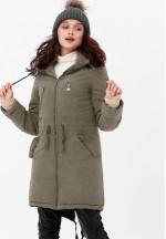 Куртка-парка 3в1 хаки для беременных и слингоношения (807)..