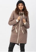 Куртка-парка 3в1 капучино для беременных и слингоношения (807)..