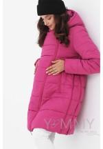 Куртка-пальто 3в1 фуксия для беременных и слингоношения (813)..