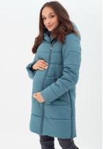 Куртка-пальто 3в1 морская волна для беременных и слингоношения (813)..