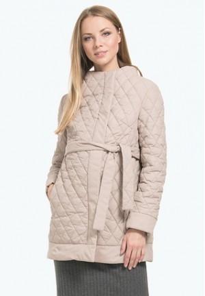 Куртка деми Амаранта бежевая для беременных