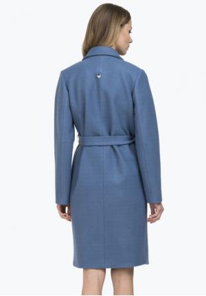 Пальто Андриана синее премиум-класса 50% шерсть