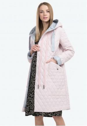 Куртка-пальто деми Арелия розовая для беременных