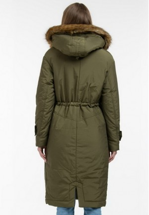 Куртка-парка 2в1 зимняя Долли зеленая NEW для беременных