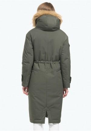 Куртка-парка 2в1 зимняя Долли т.зеленая для беременных
