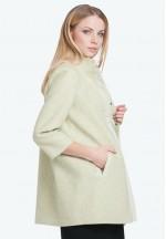 Пальто Марго оливковое 50% шерсть со вставкой для беременных ..