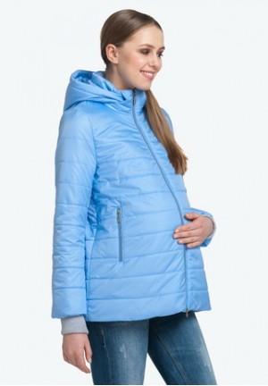 Куртка деми Милана голубая для беременных