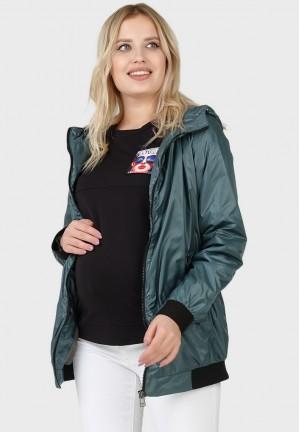 """Куртка деми 2в1 """"Орландо"""" можжевеловый для беременных"""