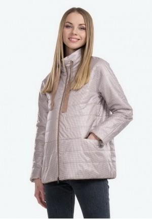 Куртка деми Сима принт бежевый для беременных