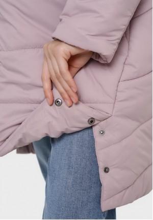 """Куртка 2в1 зимняя """"Монблан"""" припыленная роза для беременных"""