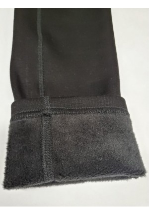 Брюки-леггинсы на меху разрезные с карманами для беременных (ем 3197)